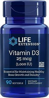 Life Extension. Vitamin D3. 1000 IU. 90 Softgels by Life Extension
