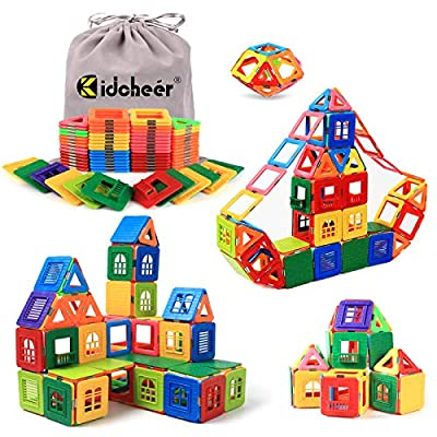 KIDCHEER Magnetic Blocks Building Toys for Kids, Magnetic Tiles STEM Kit Educational Stacking Blocks Toys for Boys and Girls with Storage Bag (72PCS) from SHENZHENSHI BLACK TECH CO.,LTD