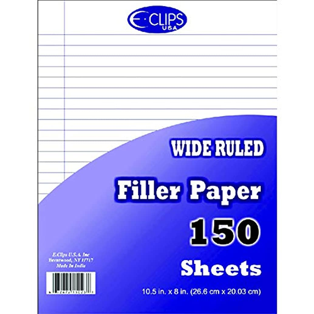 Filler Paper 150 ct, Wide Ruled, Case Pack of 48, Ideal for Bulk Buyers