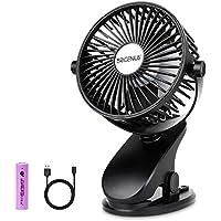 Brigenius Battery Operated Clip on Portable Mini Desk Stroller Fan