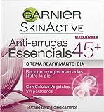 Garnier Skin Active - Essencials, Crema Reafirmante de Día Anti-Arrugas, +45 años - 50 ml