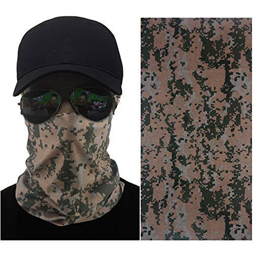 No-Name US Camouflage UV Protecting Seamless Neck Gaiter Balaclava Bandana for Hiking, Hunting and Outdoor Activities