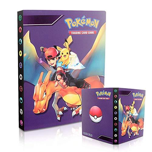Porta Carte Pokemon,Raccoglitore Carte Pokémon,Album per Carte Pokemon GX,Album Pokemon Cards GX EX Trainer, Album di Carte da Collezione, 30 Pagine - Può Contenere Fino a 240 Carte (Xiaozhi Feilong)