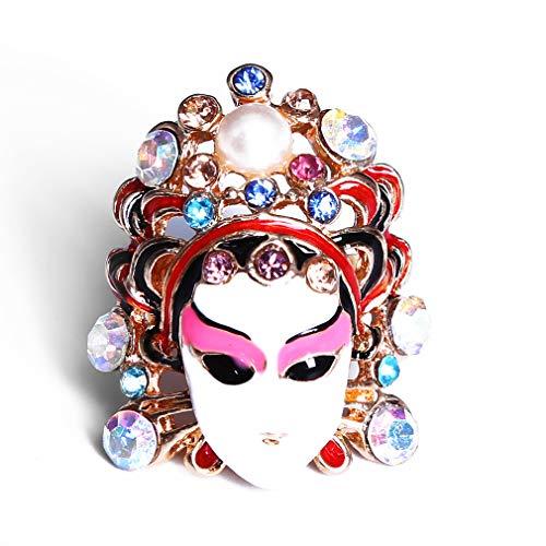LWANFEI Chinesische Oper Charakter Ringe, Party Kostüm Fingerring Zubehör Geschenk für...