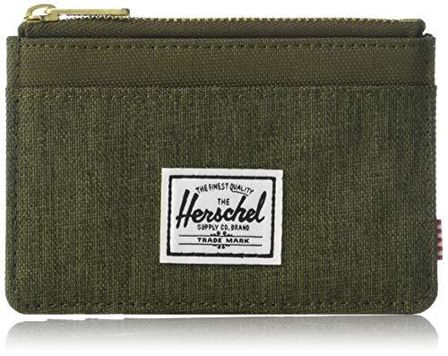 Herschel Oscar RFID - Tarjetero para Hombre Olive Night Crosshatch/Olive Night. Talla única