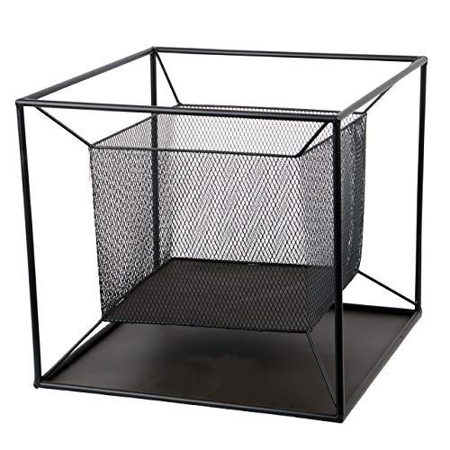 RM Design Feuerschale aus Metall Terrassenofen für den Garten in schwarz 44 cm