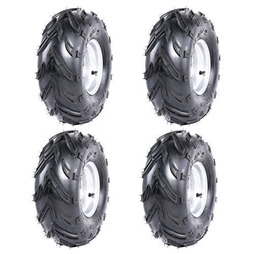WPHMOTO 4PCS 16X8-7 ATV Tire and Rim Tubeless   Front or Rear Tires with Rims for Go Kart UTV Quad Bike Buggy Utility Vehicles