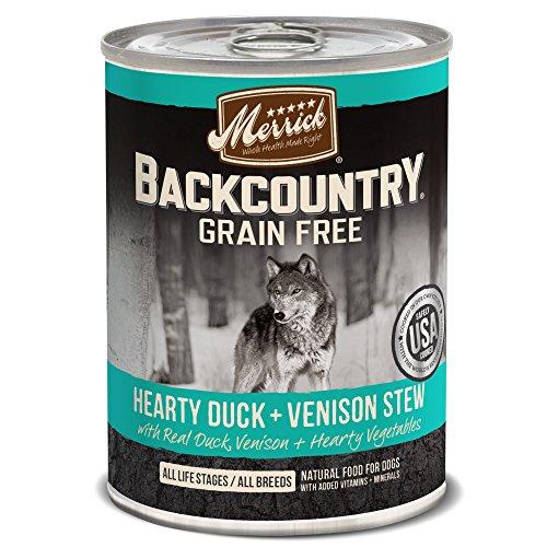 Merrick Backcountry Hearty Duck & Venison Stew Grain Free Wet Dog Food, Case Of 12, 12.7 Oz.