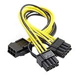 Chenyang PCI-E PCI Express ATX maschio a doppio pin & 6PIN femmina video di prolunga splitter cavo di alimentazione