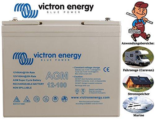 Victron Energy - Batería 100Ah 12V AGM Super Cycle Victron Energy Fotovoltáico Náutica Cámper - BAT412110081