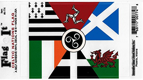 Celtic Nations Flag Car Decal Sticker [3.5x5']