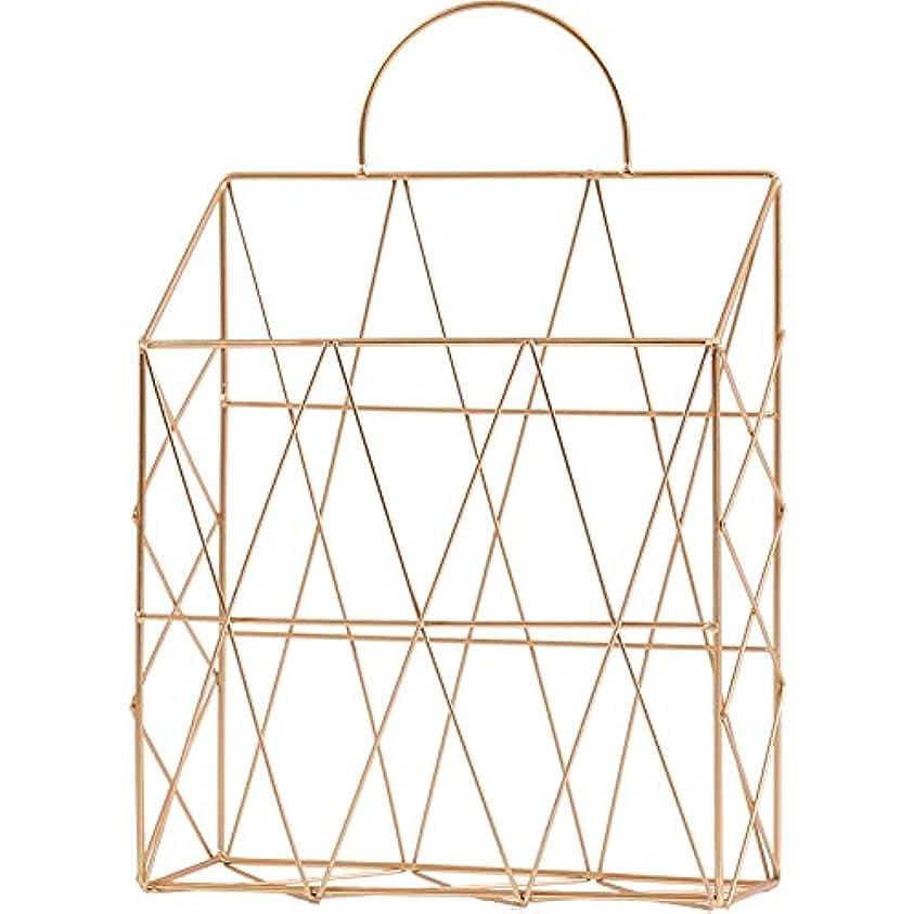 ママハンバーガーペットKth 北欧バラゴールド錬鉄製のデスクトップブックの雑誌の新聞の収納バスケットは、多機能破片の収納バスケットを運ぶことができますカラーゴールド