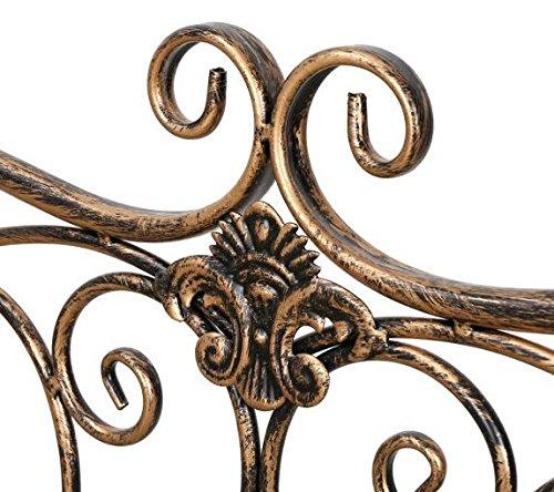 HLCベランダベンチガーデンベンチアイアン(銅色)