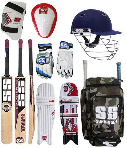 SS Original Brand Full Cricket Complete Kit Ideal for Men's Size Cricket Kit Package with Kashmir Willow Bat (Thigh Guard+ Abdominal Guard + Helmet + Batting Gloves+ Bat + Kit Bag + Legguard Pad)