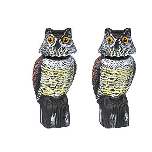 Homyl 2 unidades de plástico realista con forma de búho, cuervo, pájaros, para jardín y Halloween
