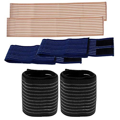 3 Paare Handgelenk Bandagen Verstellbare Handgelenkstütze Elastisch Handgelenkschoner Sport Handbandage für Fitness, Gymnastik, Heben, Tennis (7,5 bis 42 cm)