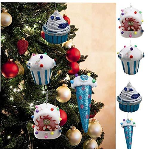 Christmas Bubble Ornament Christmas Tree Foam Popcorn Pendants Colorful Hanging Decoration for Festival Decoration
