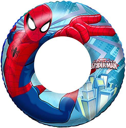 BESTWAY – Bouée Licence Spiderman Gonflable – Multicolore – 98003B – 56cm – Jeu de Plein Air dès 36 Mois