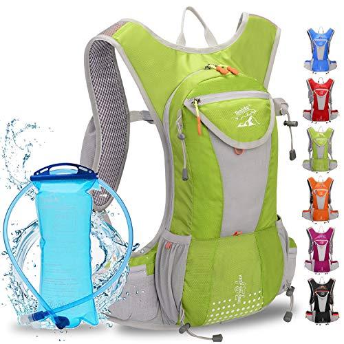 WLZP Mochila de hidratación con 2L Bolsa de Agua, Impermeable y...