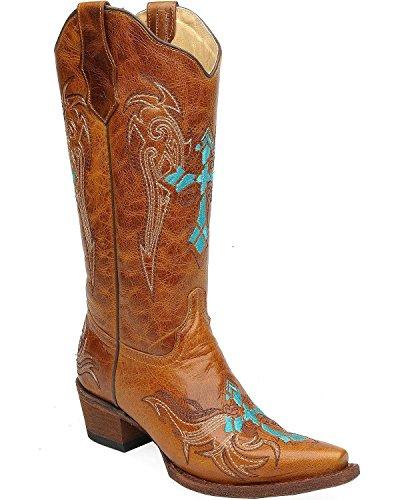 Corral Boots Circle G Damen Lederstiefel L5104 Cowboy Stiefel Braun 38 EU