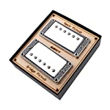 Alnicov Guitar Single Coil Pickups Neck & Bridge Set Copper Pickup for Electric Guitar with Mounting...