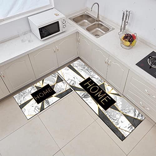 HLXX Alfombra en la Cocina Baño Sala de Estar Alfombra Entrada de casa Felpudo Decoración de Dormitorio Pasillo Balcón Alfombra de Piso de mármol A14 40x60cm