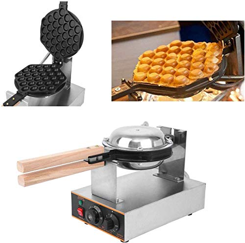 Ridgeyard 110V 1400W Hong Kong Style Waffle Maker Egg Bubble Maker Rotated Nonstick Grill