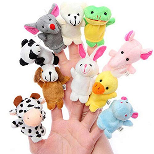 KongLyle Finger Puppets Set Cloth Velvet Puppets Mini Animals Story Time Toy for Playtime Schools