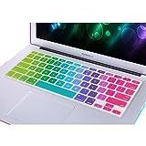 NSSTARFunda protectora de teclado, ultrafina y colorida, con contraste de color, para teclado de iMac de 13 y 15pulgadas, MacBook Pro A1278A1286 de 13 y 15pulgadas, MacBook Air A1369/1466 de 13pulgadas, MacBook Retina A1502/A1425/A1398 de 13 y 15pulgadas, 5672929