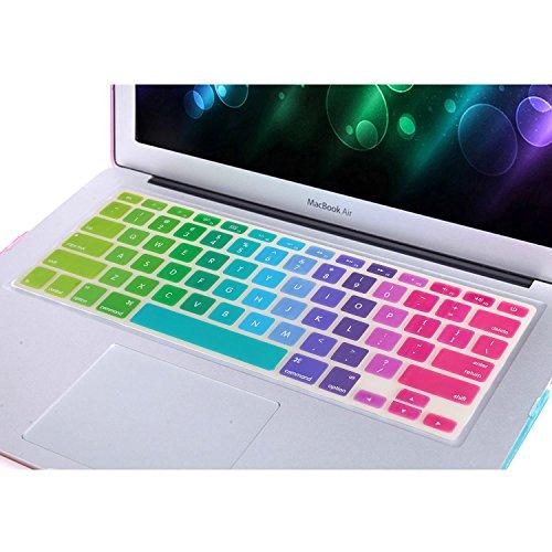 NSSTAR Colorido Contraste Color Premium Funda protectora de teclado ultra delgada para teclado MacBook Air A1370/1465 de 11 pulgadas (degradado multicolor)