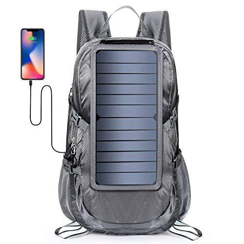 Xiao Hi Outdoor-rugzak, opvouwbaar, telefoon, oplader op zonne-energie voor reizen, klimmen, jacht, kamperen, fietsen