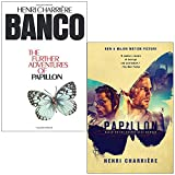 Banco the Further Adventures of Papillon & Papillon By Henri Charriere 2 Books Collection Set