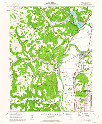 YellowMaps Piketon OH topo map, 1:24000 Scale, 7.5 X 7.5 Minute, Historical, 1961, Updated 1963, 26.8 x 22 in - Paper