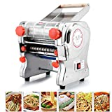 ELEOPTION 110V Stainless Steel Electric Noodle Making Pasta Maker, Commercial Dough Roller Noodle Cutting Machine(Noodle Width 24CM, Knife Length 24CM, Cutter 2mm/6mm)