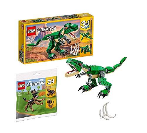 Legoo Lego Creator Set 31058 - Dinosauro + 30574 gatto (sacchetto di plastica), 7-12 anni