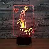 WxzXyubo Regalo de vacaciones del juguete de los niños del golf LED de la luz de la noche 3D 4-16 colores