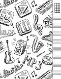 Cuaderno Tablatura Ukelele: para composición de canciones...