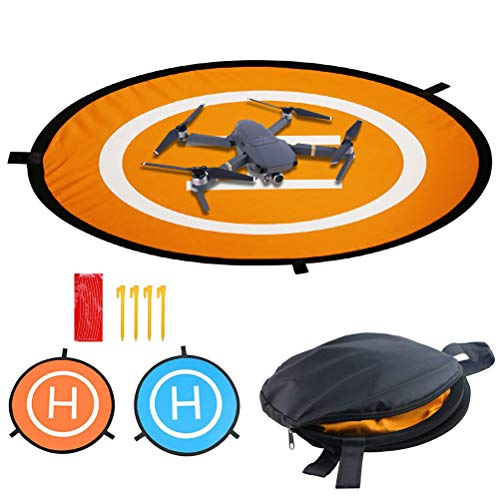 Drones Landing Pad, Universal Waterproof D 75cm/30'' Portable Foldable Landing Pads for RC Drones Helicopter, Drones 2/3/4/