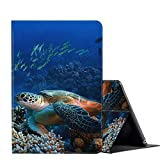 Fire HD 10 Case 2019/2017 10.1 Inch Tablet Case, AMOOK Multi-Angle Viewing Anti Slide Folio Stand Smart Cover Cases for All New Kindle Fire HD 10 9th/7th Gen- Sea Turtle