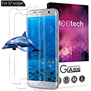 AOFU Samsung Galaxy S7 Edge Tempered Glass Screen Protector, [Bubble-Free][9H Hardness][Anti-Scratch] Wet Applied HD Clear Film Screen Protector for Galaxy S7 Edge[2 Pack]