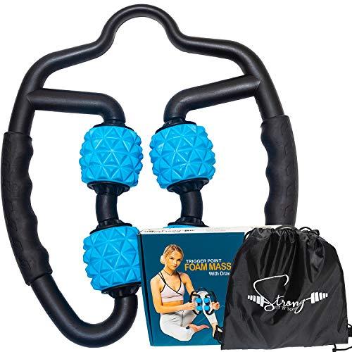 Foam Roller Deep Tissue Massager   Fascia Blaster Myofascial Massage Tools with Drawstring Gym Bag   Muscle Roller for Legs   Fit Roller Pro High Density Foam Trigger Point Leg Circulation Massager