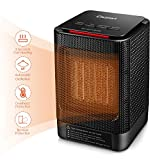 ILIFESMART Electric Fan Heater, Mini Space Heater, 950W Portable Heater with Auto Oscillation