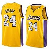 Ceonam Camiseta de Baloncesto para Hombre, NBA, Los Angeles Lakers #8#24 Kobe Bryant. Bordado Swingman Transpirable y Resistente al Desgaste Camiseta para Fan