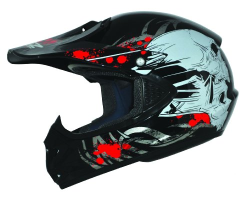 Kids Pro Kinder Crosshelm Schwarz Größe: XS 53-54cm Kinderhelm Kinder Cross BMX MX Enduro Helm