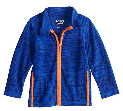 Jumping Beans Baby Boy Space Dyed Microfleece Zip Lightweight Jacket (Space Dye Blue)