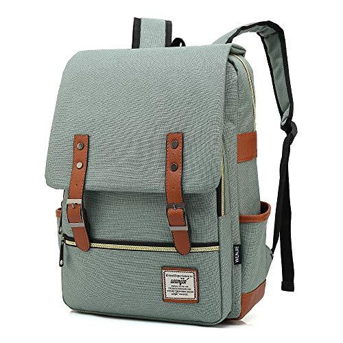 HITOP Rucksack, Büchertaschen, Laptop, wasserdicht, modisch, niedlich, leicht, für Teenager, Mädchen, Jungen, Herren, Damen, Grün