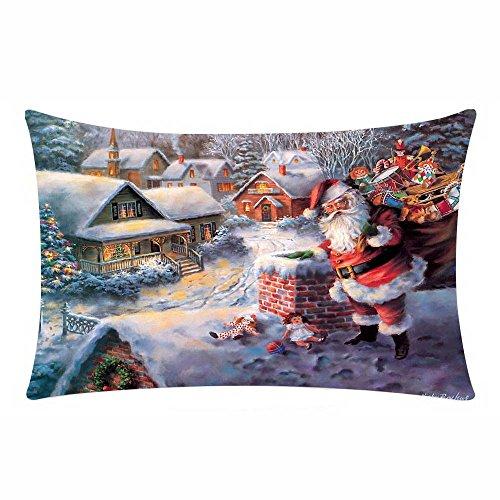 Sencillo Vida Navidad Fundas De Cojin Almohada Caso de Lino Pillow Case Sofa Cushion Decoración del Hogar para...