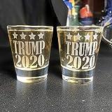 Alankathy mugs shot glass Donald Trump 2020 make america great keep 1.5 oz set of 2