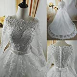 SWEETQT White Ivory Elegant Ball Gown Pearls Wedding Dresses for brides Lace sweetheart with lace edge Plus Size evening dress Lace dress