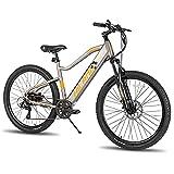 Hiland Aluminum Electric Bike 27.5'' Adults Electric Mountain Bike Cruiser Bike, 36V Ebike with Removable Battery, Shimano 7 Speed G